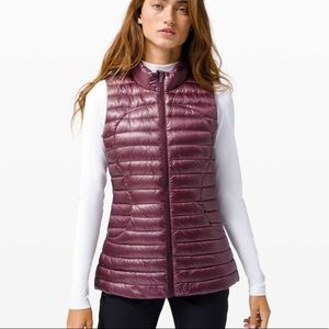 New Lululemon Pack It Down Shine Vest Bordeaux 2